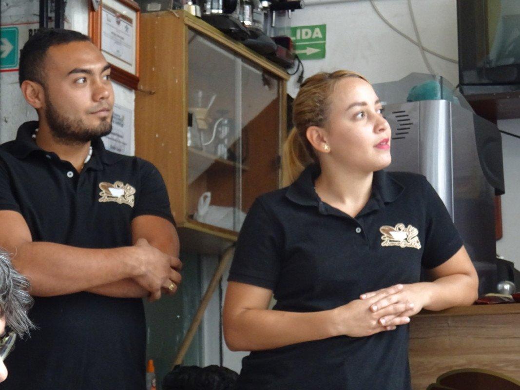 Miguel and Liz at Giraldo station