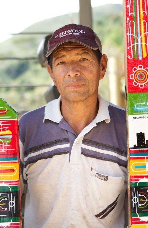 Coffee farmers around Giraldo