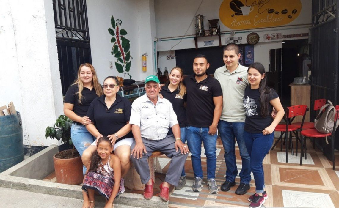Family Buying Station Giraldo